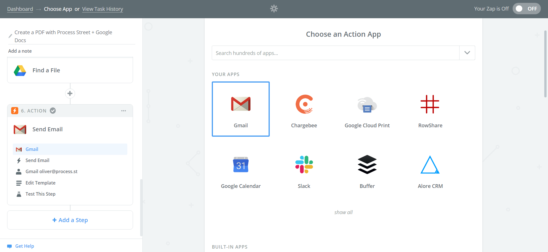 Create a PDF with Zapier