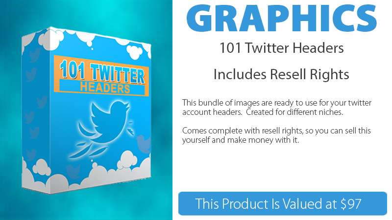 101 Twitter Headers Graphics Pack