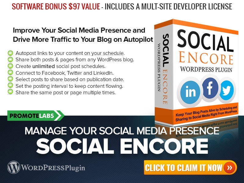 Product: Social Encore Plugin