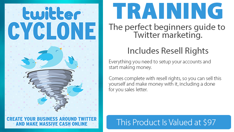Twitter Cyclone Training
