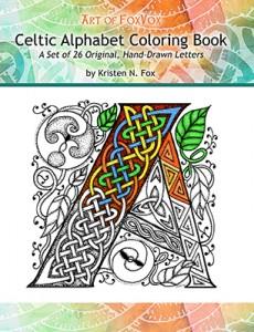 CelticAlphabetColoringBookCoverKristenNFox