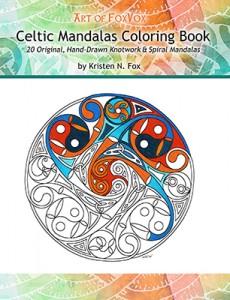 CelticMandalasColoringBookCoverKristenNFox