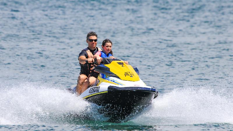 Experience the thrills and spills of blasting along the water on a jet ski!