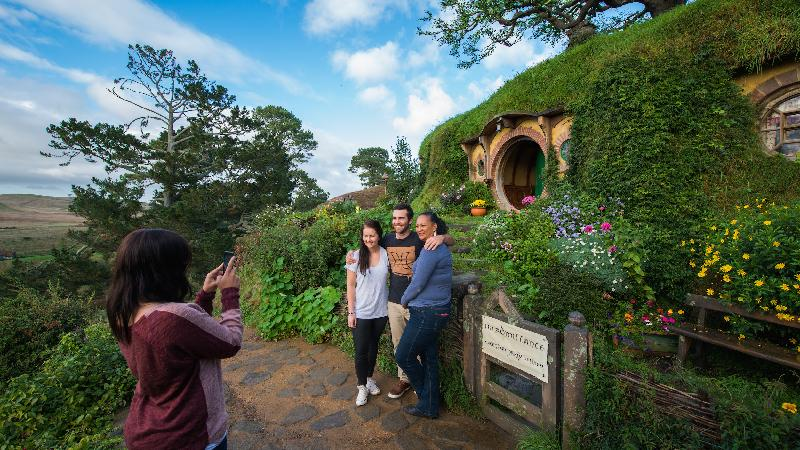 See two of New Zealand's most famous attractions in one day! The magical Hobbiton Movie Set and the breath-taking Waitomo Glowworm Caves on a fully guided, small group tour.