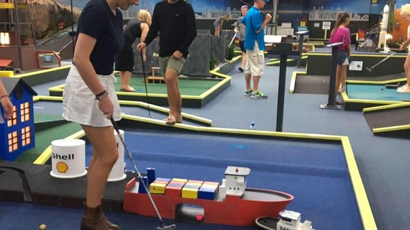 Visit Christchurch's most exciting indoor mini golf experience. Our indoor, all-weather venue is just a few minutes drive from the city centre.   Each of our 18 holes incorporates a different theme and offers different skill challenges and fun.