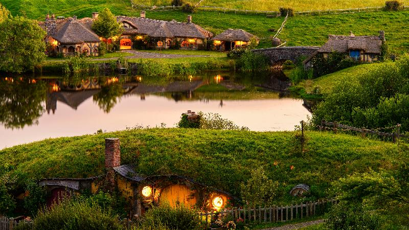 See one of New Zealand's most famous attractions, the magical Hobbiton Movie Set on this fully guided small group tour, departing from Auckland...