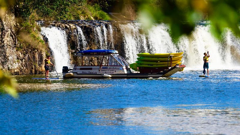 Our river boat takes you to the calmest of water where it is easiest to learn - in no time kayak through mangrove forests or paddleboard face to face with an amazing waterfall!