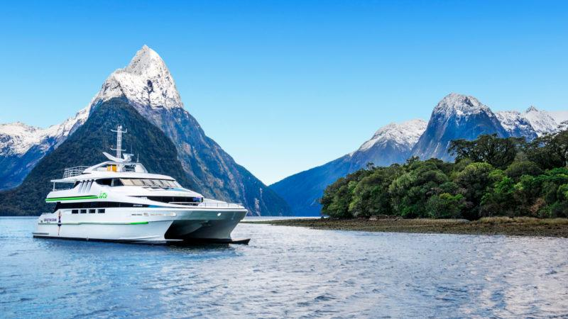 Visit Milford Sound in style with a Premium Fly-Cruise-Fly combo which includes the greatest scenic flight in the world, and now the most luxurious boat on the Sound, Jucy's Gem...