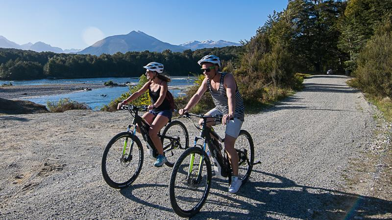 Explore the Wilderness by bike! An epic scenic bike ride through the Fiordland National Park. Follow the Waiau River back from Manapouri to Te Anau on one of the worlds most beautiful cycle trails. With many spots to stop for photos, a picnic, or snack, the Lake 2 Lake Cycle Trail is sure to impress.