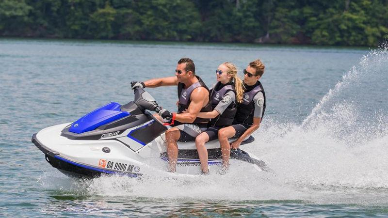Get ready to make waves with a thrilling jet ski ride on the calm waters of the stunning Hibiscus Coast...