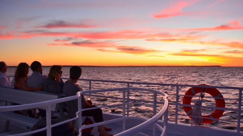 Join us for an intimate sunset cruise on the pristine Hervey Bay waters while enjoying a selection of the finest local seafoods.