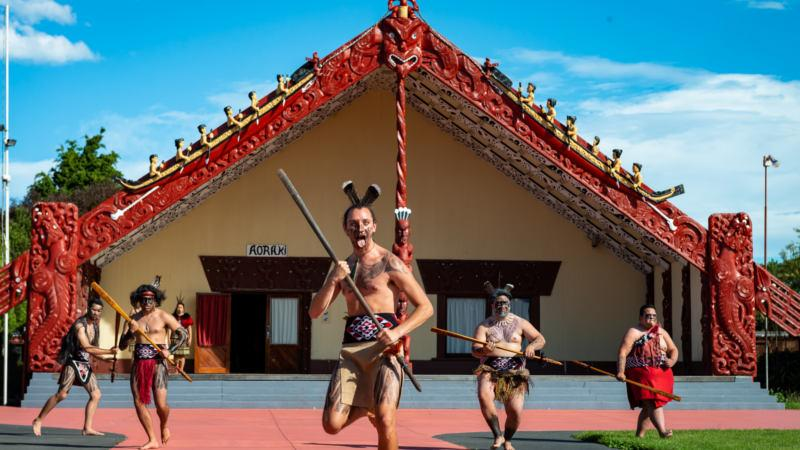 Embrace the Maori Culture as you are welcomed into New Zealand's National Nga Hau e Wha Marae, and witness an amazing traditional performance and the fierce Haka!