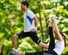 Man & woman stretching (2)