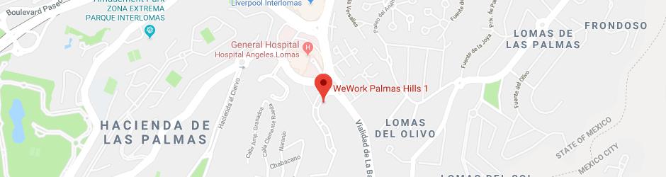 Boulevard Palmas Hills No. 1 Piso 8, Col. Valle de las Palmas, Huixquilucan, Estado de México. C.P. 52764