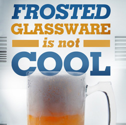 Frosted-glassware