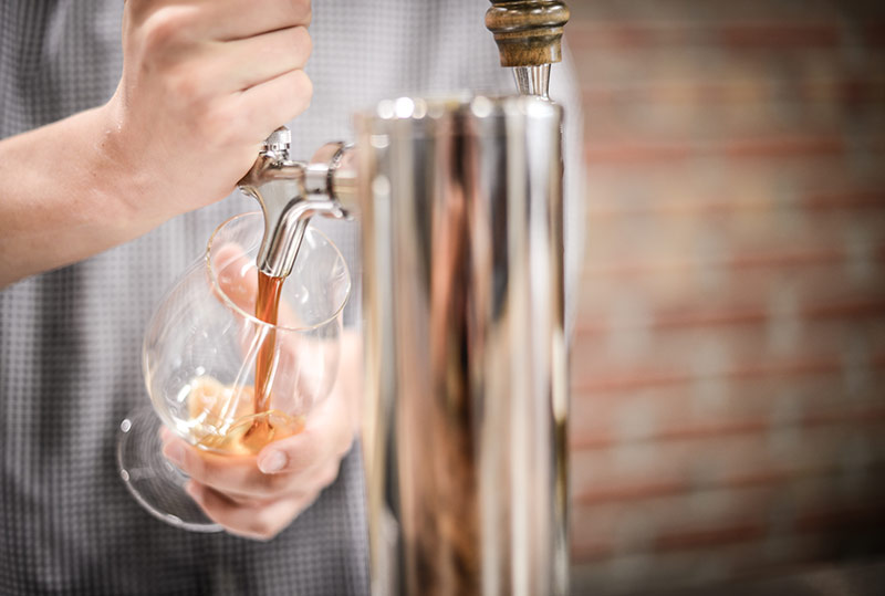 Pouring Craft Beer