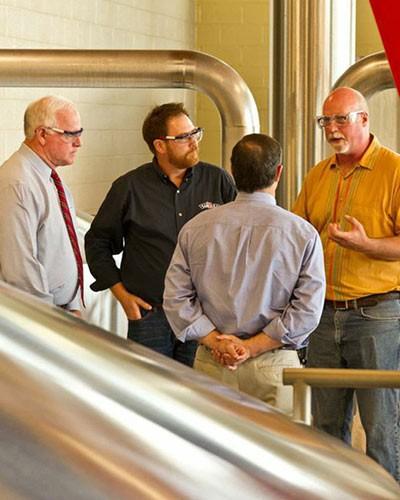 Congressmen at Brewery