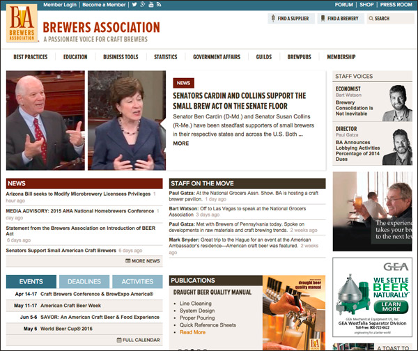 Brewers Association Website