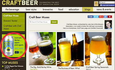 craftbeer website banner ad