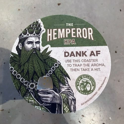 Hemperor coaster from New Belgium Brewing Co.