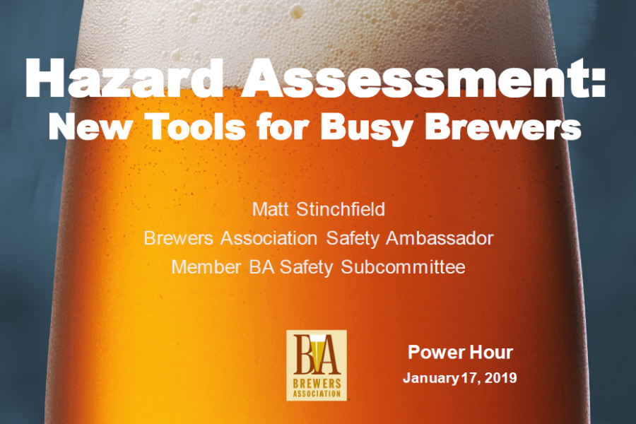 Hazard Assessment – The Safety Tool for Busy Brewers