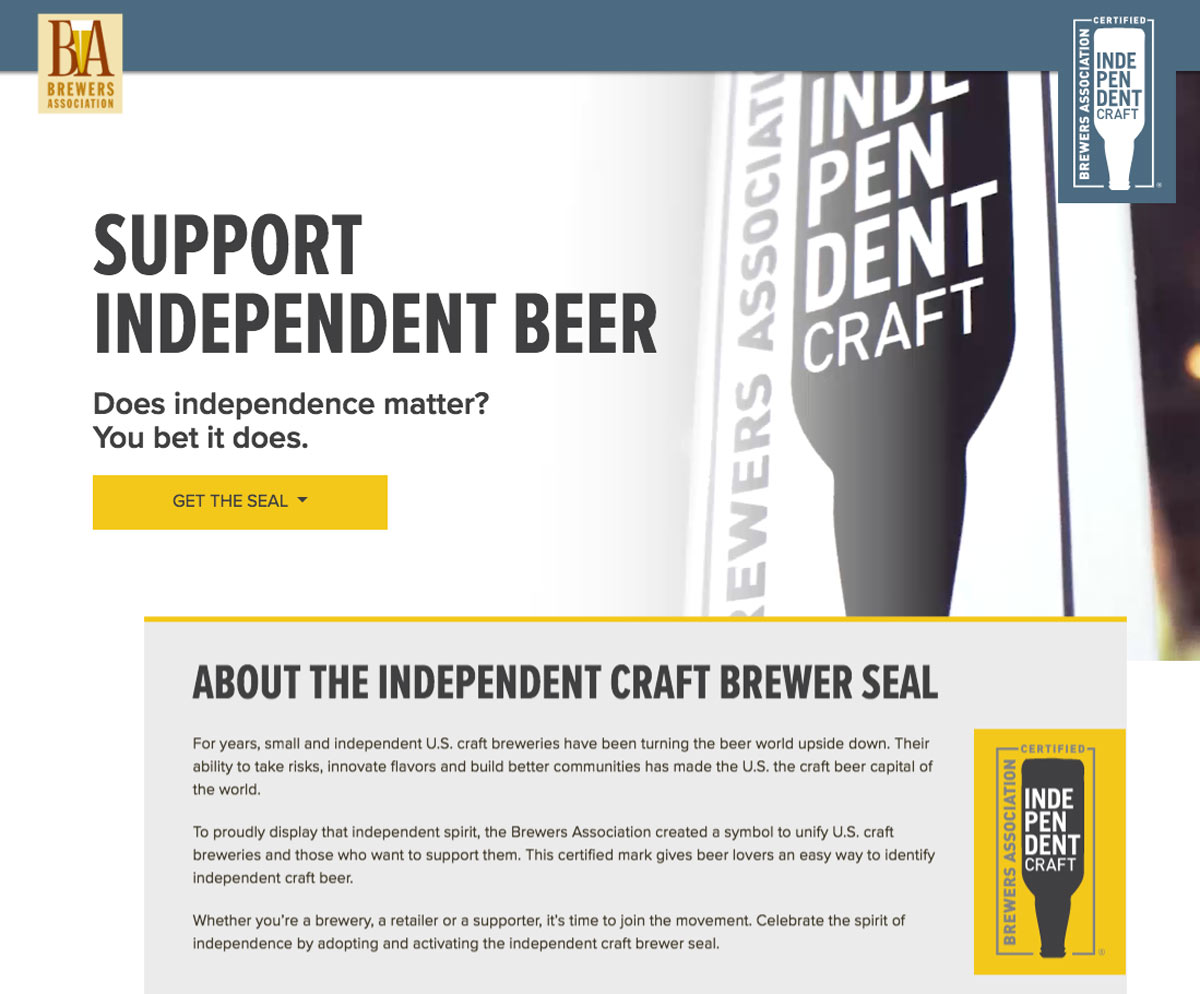 Independent Craft Brewer Supporter Seal