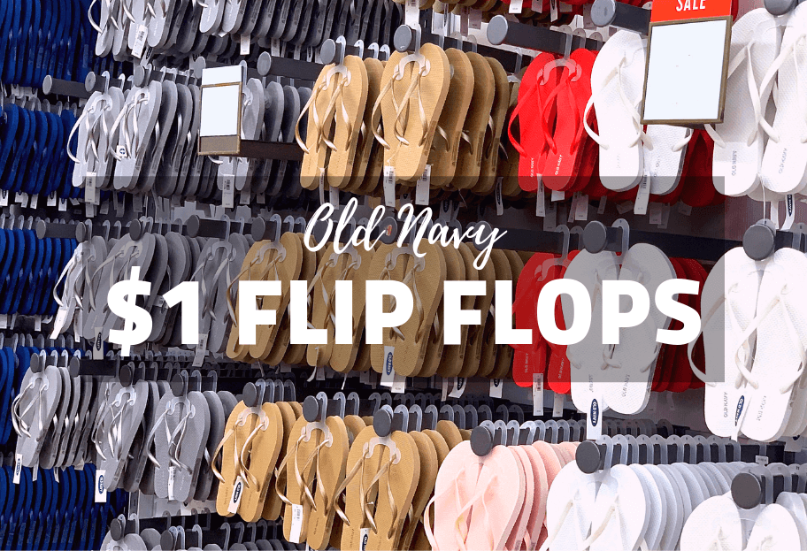 Old Navy's Annual $1 Flip Flop Sale is Back!