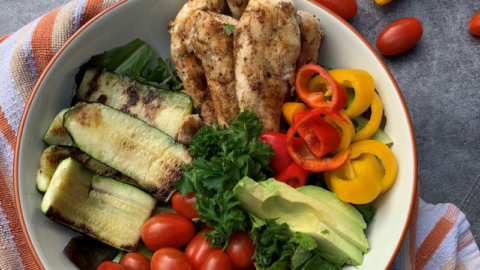 Hearty Grilled Chicken & Veggie Salad