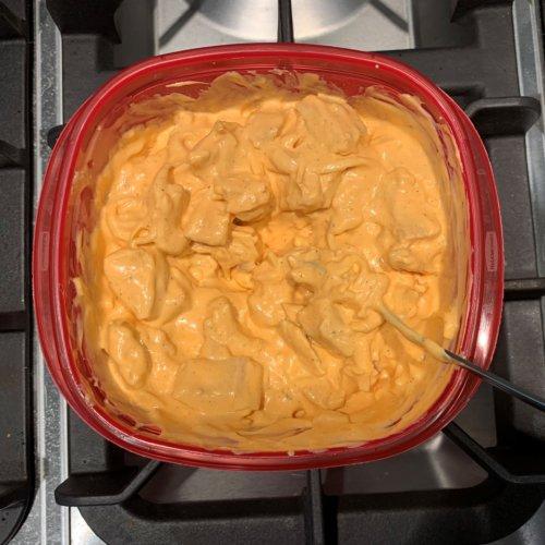 buffalo chicken dip add chicken to mixture