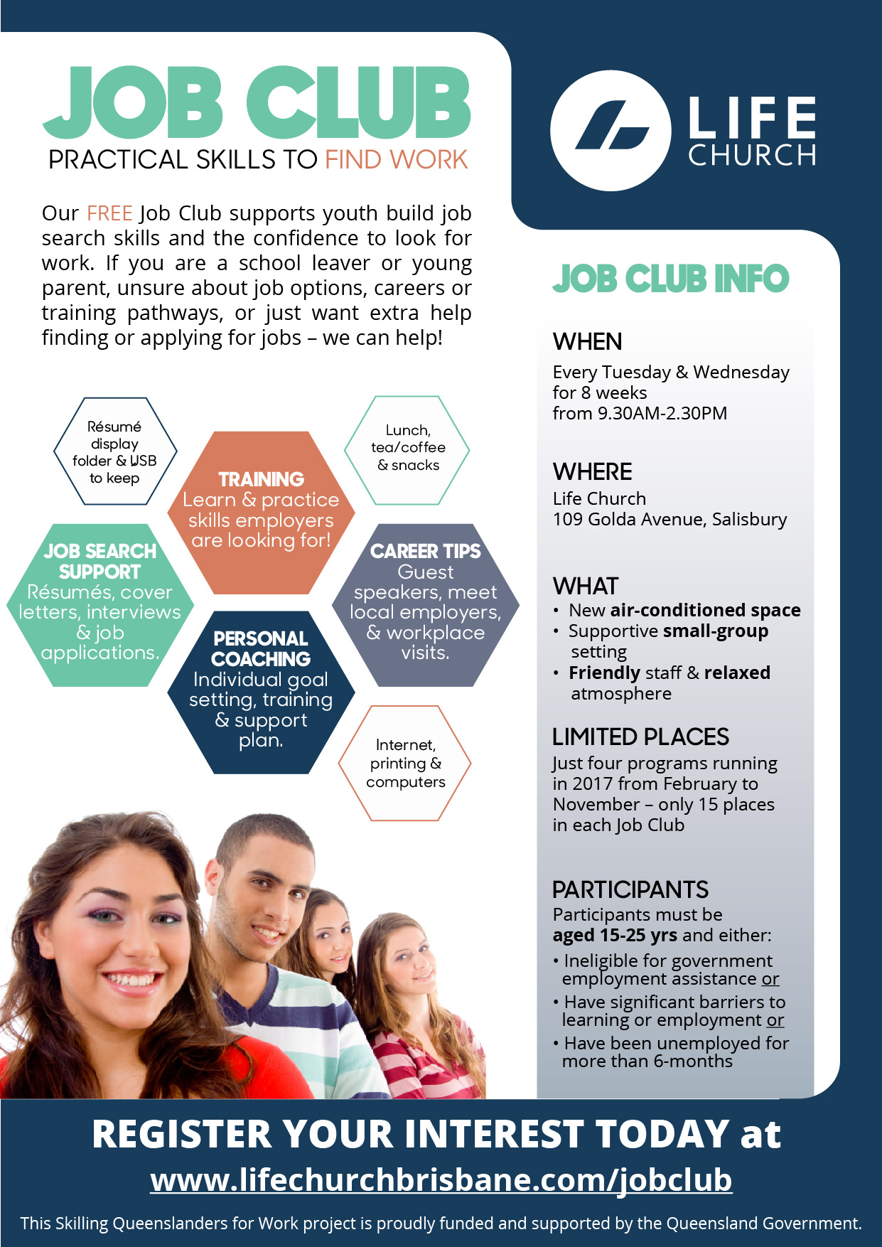 If You Know Someone Who Would Benefit From The Job Club, Please Share This  ...