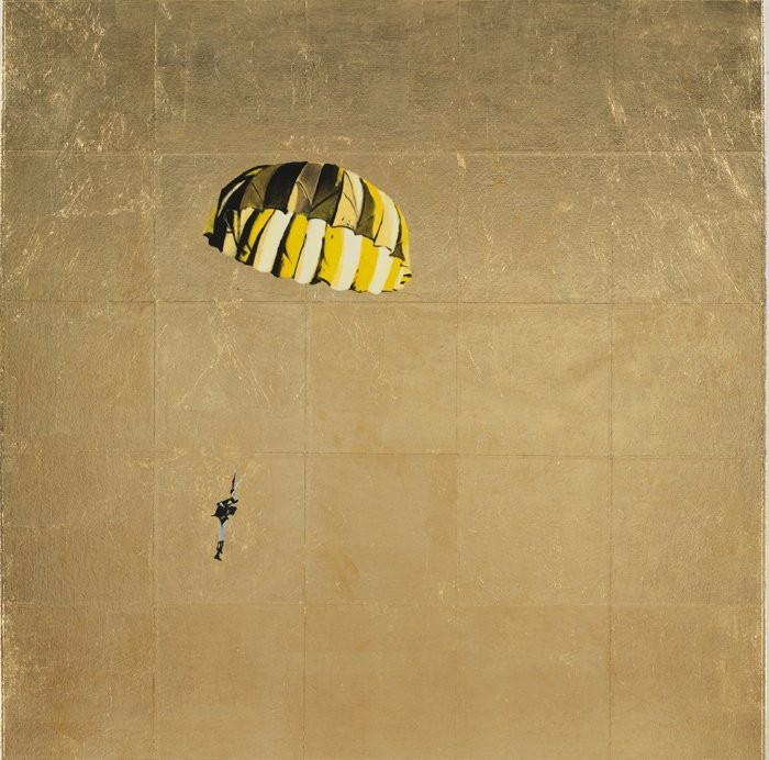 Isca Greenfield-Sanders (American, born 1978). Yellow and Black Parachute
