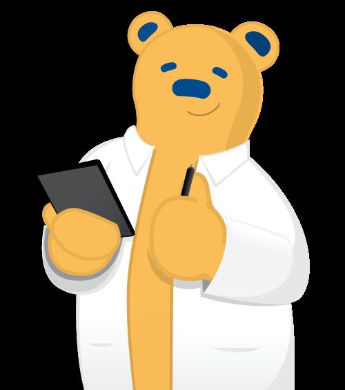 Doctor Bear mascot logo