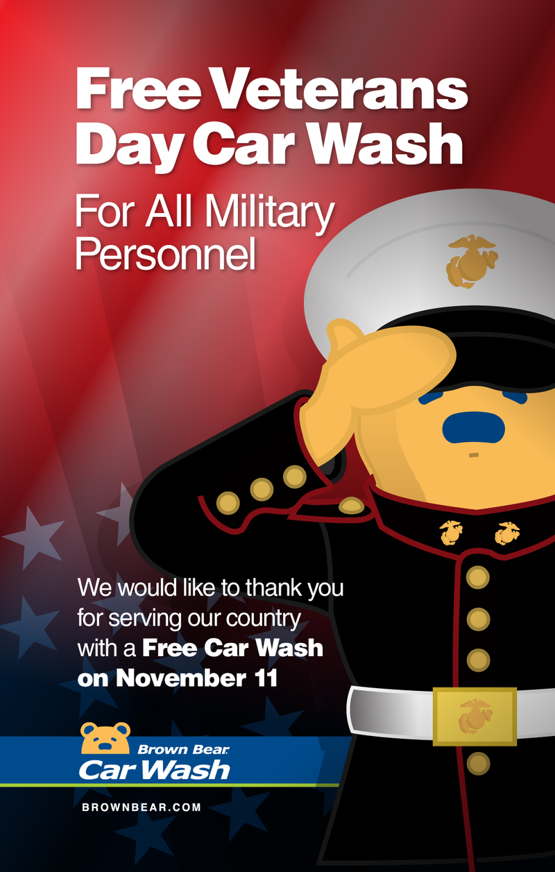 Free Car Wash for Veterans on Veterans Day