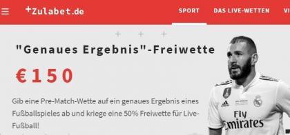 Zulabet.de Fussballwette gratis