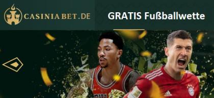 Casiniabet. gibt Neukunden eine 100 € Fußballwette gratis
