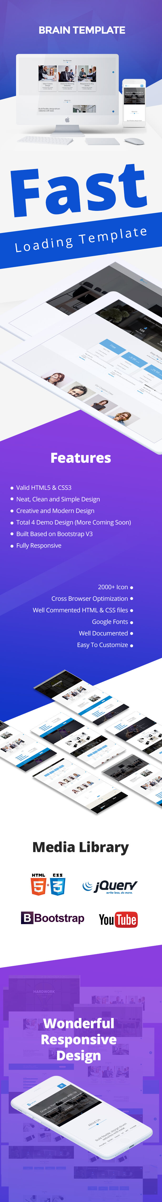 Brain Template | Responsive and Fast Corporate Html5 Template