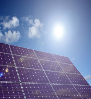 Solar PV System and bright sun