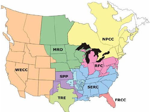 Fig1. NERC Reliability Regions