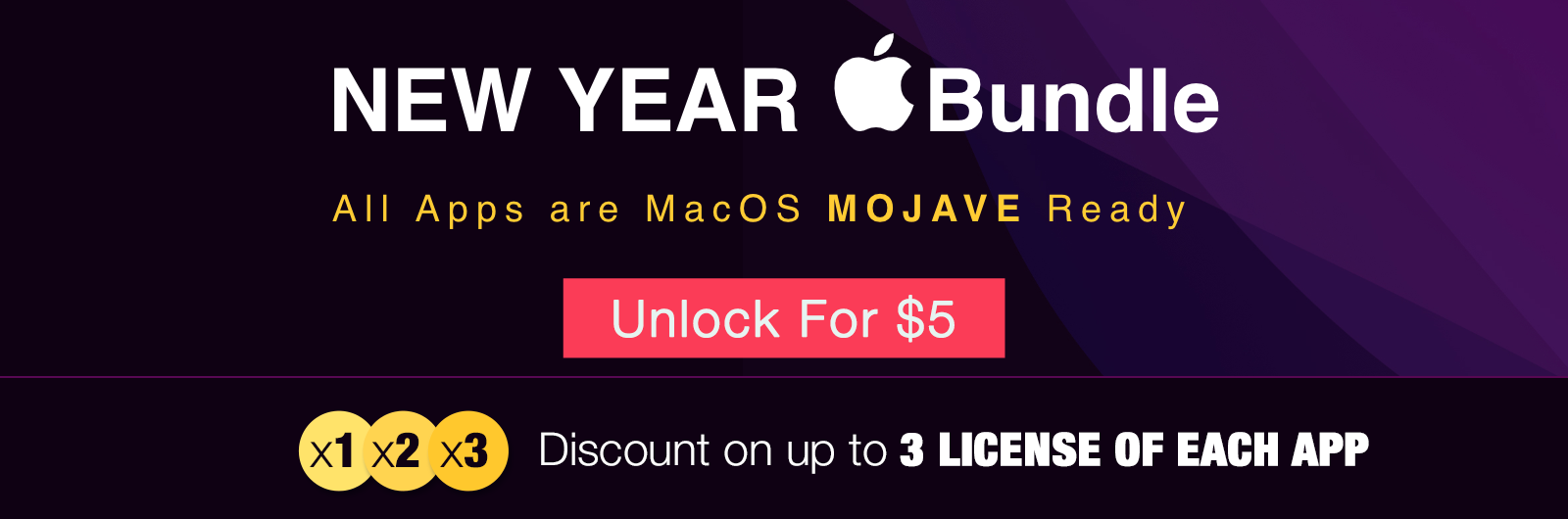 UNLOCK YOUR New Year MAC BUNDLE FOR $5 - 1600px width Poster