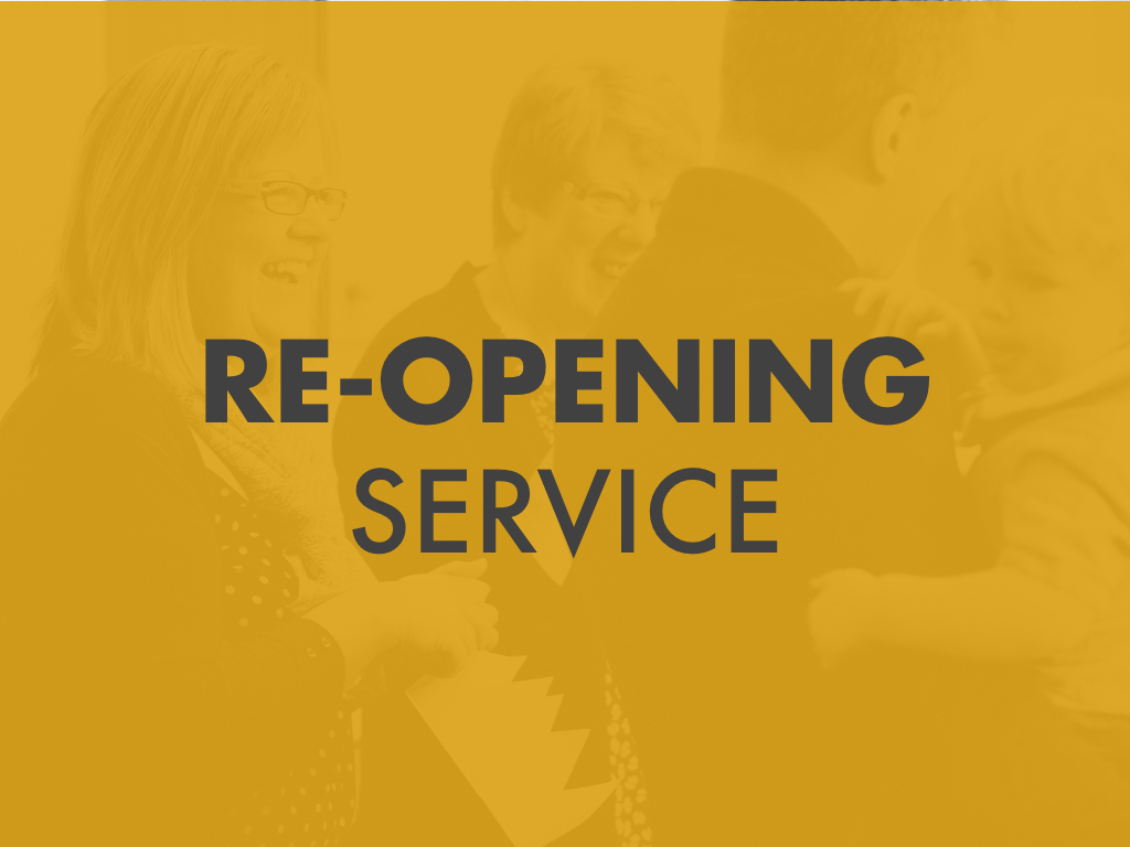 Reopening Service – 'A Hole in The Roof'