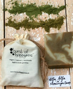 Alfa alfa moringa soap burst of happyness