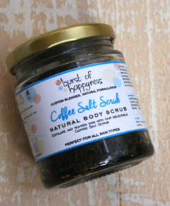coffee salt scrub burst of Happyness