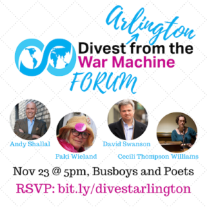 Forum: Divest Arlington from the War Machine