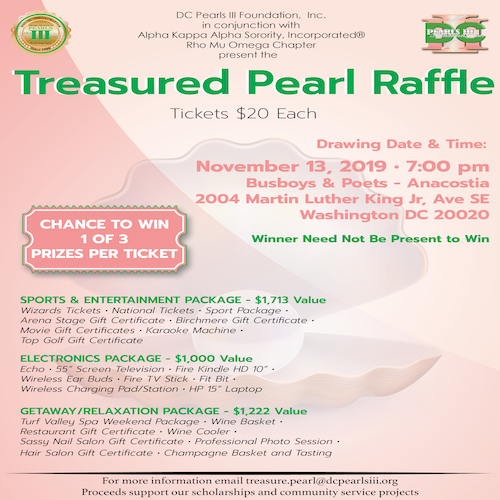Treasured Pearl Raffle Drawing