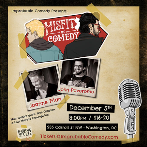 Improbable Comedy presents The Misfits of Comedy