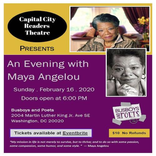Capital City Readers Theatre Presents An Evening with Maya Angelou