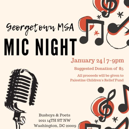 Georgetown MSA Open Mic Night
