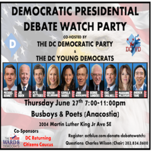 Democratic Debate Watch Party with DC Democratic Party and DC Young Democrats
