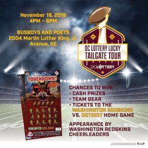 DC Lottery Redskins Tailgate Promotion