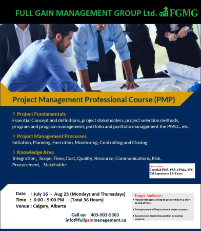 PMP exam preparation course in Calgary | Services Offered | Calgary ...